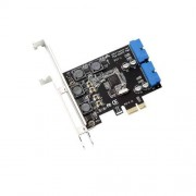 Mustpoint PCI-E X1 to 2 Ports 19 Pin USB 3.0 Header PCI Express to Dual 20 Pin USB 3.0 Card