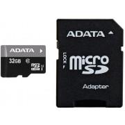 Micro Secure Digital Card Adata, AUSDH32GUICL10-RA1, 32Gb, Clasa 10, cu adaptor SD, Negru