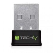 Techly Mini Adattatore Wireless USB 600Mbps Dual Band