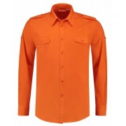 Lemon & Soda Oranje heren blouse bodyfit