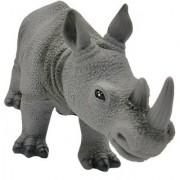 Emob Amazing Realistic Look Wildlife Animal Rhinoceros Figure Playset Toy for Kids (Multicolor)