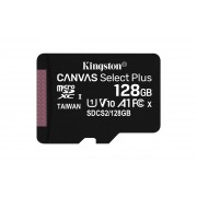 Kingston Canvas Select Plus - Flash-minneskort - 128 GB - A1 /