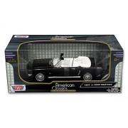 New 1:18 W/B Motormax American Classics - Black 1964 1/2 Ford Mustang Convertible Diecast Model Car by Motor Max