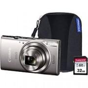 Canon Digital Camera IXUS 285 HS 20.2 Megapixel Silver + 1 x 32GB SD Card, 1 x Case