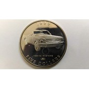 Marshall Islands 5 Dollars Classic Cars - Ford 1964 1/2 Mustang 1996 Coin