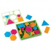 Forme geometrice cu sablon Learning Resources, 3.1 - 7.8 cm, 5 - 9 ani