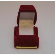 Sametova krabicka na sperky - auticko cervene