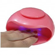 Secador De Unhas Portátil Seca Esmaltes LED UV MC988BS Rosa
