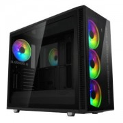 Кутия за компютър Fractal Design Define S2 Vision RGB, 4 x Prisma AL-14 PWM ARGB, FD-CA-DEF-S2V-RGB-BKO-TGD