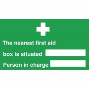 Nisbets Nearest First Aid Box Sign