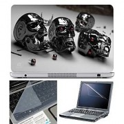 FineArts Laptop Skin Metal With Screen Guard and Key Protector - Size 15.6 inch