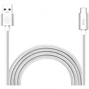 Type C Charger Cable Monoy Type-C to USB3.0 (3ft) Cable for Google Pixel XL Oneplus 3 LG G5 HTC 10 Nexus 5X 6P Lumia 950 / 950XL (Silver)