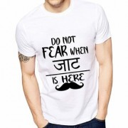 Mens Printed Jaat is Here T-Shirt Quote Printed T-Shirts