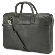 "Lucleon Licio Slim 15"" Executive Braungraue Ledertasche"