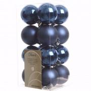 Decoris Mystic Christmas kerstboom decoratie kerstballen blauw 16 stuks