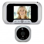 Eques R01PS Spioncino Digitale Porta Display 2.8 Zoom Movimento Infrarosso 0.3Mpx SD colore alluminio