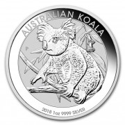 Australian Koala Perth Mint stříbrná mince 1 Oz 2018