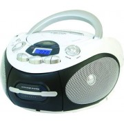 Majestic Ah-2387r Wh Boombox Stereo Digitale Lettore Cd Mp3 Usb Cassetta Colore Nero / Bianco - Ah-2387r Wh