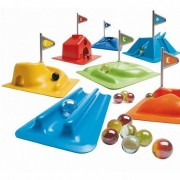 Gra manualna Mini Golf dla dzieci, Zestaw do golfa w domu i na zewnątrz Djeco DJ02001