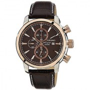 Seiko Sport Chronograph Brown Dial Mens Watch (Snaf52P1)