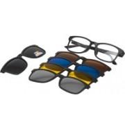 Vast Rectangular Sunglasses(Grey, Yellow, Brown, Blue, Silver)