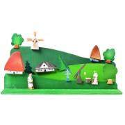 Jucarie construieste si picteaza satul cu moara BumbuToys, din lemn