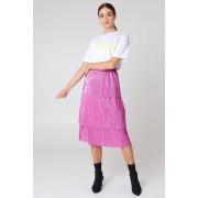 NA-KD Party Triple Layer Midi Skirt - Pink