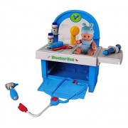 Little Treasures Doctor 18+ Piece Pretend And Play Set With A Selection Of Equipment And Play Medicine All Housed In A Doctors Bench And Storage Cabinet And Supplied With A Lifelike Baby Doll