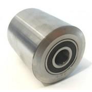 acél raklapemelő béka görgő átmérő: 55mm szélesség: 80mm tengely átmérő: 20
