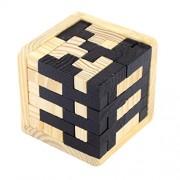Segolike Wooden Tetris Puzzle Jigsaw T Shape Building Blocks Kids Stacking Toy Educational Toys