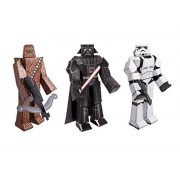 Star Wars Blueprint Paper Craft Kit Chewbacca, Darth Vader, And Stormtrooper