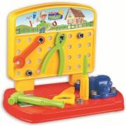 Banc de lucru Handy Tommy Ucar Toys, 28 piese