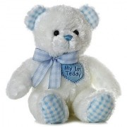 Plush Baby 14 Blue My First Teddy Bear