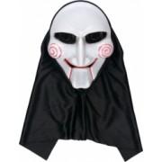 Masca de halloween model jigsaw alb/negru