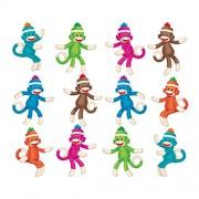 Trend Enterprises Sock Monkeys Solids Mini Accents Variety Pack (36 Piece)
