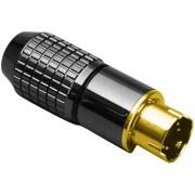 Conector tată mini-DIN, drept, 6 pini, 0204020-P BKL Electronic