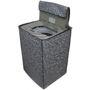 Glassiano grey colored waterproof and dustproof washing machine cover for fully automatic LG T7567TEELH 6.5KG washing machine
