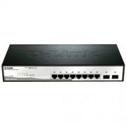 D-Link DGS-1210-10 10port Gbit Smart Sw, 2xSFP