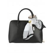 MONA Handtasche, Damen, schwarz, mit abnehmbarem Tuch
