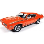 1969 Pontiac Gto Judge Orange Limited Edition To 1002pc 1/18 By Autoworld Amm1058