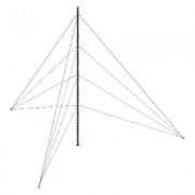 Kit de torre arriostrada de piso 18m altura con tramo STZ30 (No incluye cable retenida)
