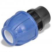 vidaXL PE конектор за маркуч с женска резба, 16 бара, 25 мм, 1/2'', 2 броя
