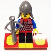 "Minifigure Packs: Lego Castle Black Knights Bundle ""(1) Tower Archer"" ""(1) Figure Display Base"" ""(1) Figure Accessory"""