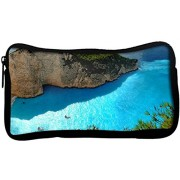 Snoogg Ocean On The Mountain Side Poly Canvas Student Pen Pencil Case Coin Purse Utility Pouch Cosmetic Makeup Bag