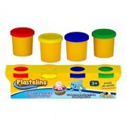 Plastelino - Pasta de modelat Starter, 4 culori
