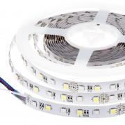 LED szalag , 5050 , 60 led/m , 14,4W/m , RGBWW , 12 mm , WW = meleg fehér