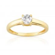MATY Bague solitaire or 750 jaune diamant 40/100e de carat - 52,55,61,58,62,49,53,54,56,57,59,60,48,50,51