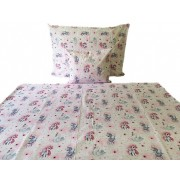 140x200 cm ágynemű huzat garnitúra pamutból kék - fehér kockás