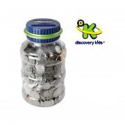 Juguetes Discovery Kids Alcancía Contador De Monedas Azul