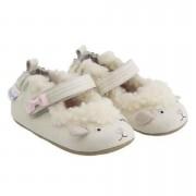 Robeez Fehér bárányos puhatalpú kiscipő 0-6 hó